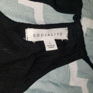 Socialite Pants - Socialite Crochet Front Romper